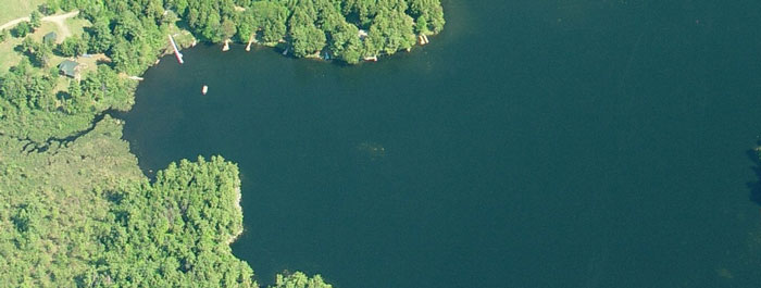 Long Pond Maine aerial view