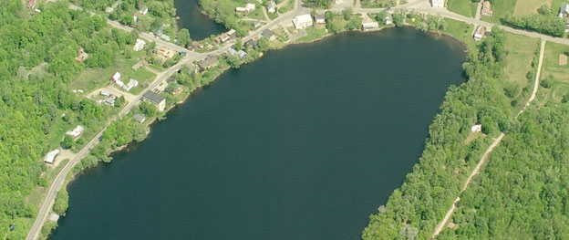 Minnehonk Lake aerial view