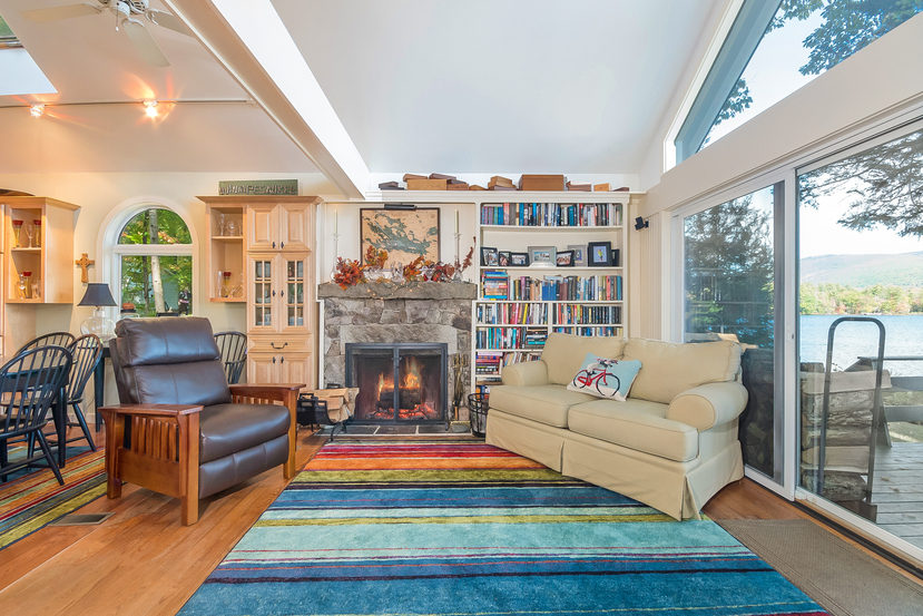Open concept Living Area at 103 Cottage Road Winnipesaukee
