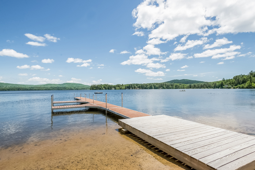 40' x 80' sandy beach at this 50 acre Effingham home for sale on the outskirts of Wolfeboro NH.
