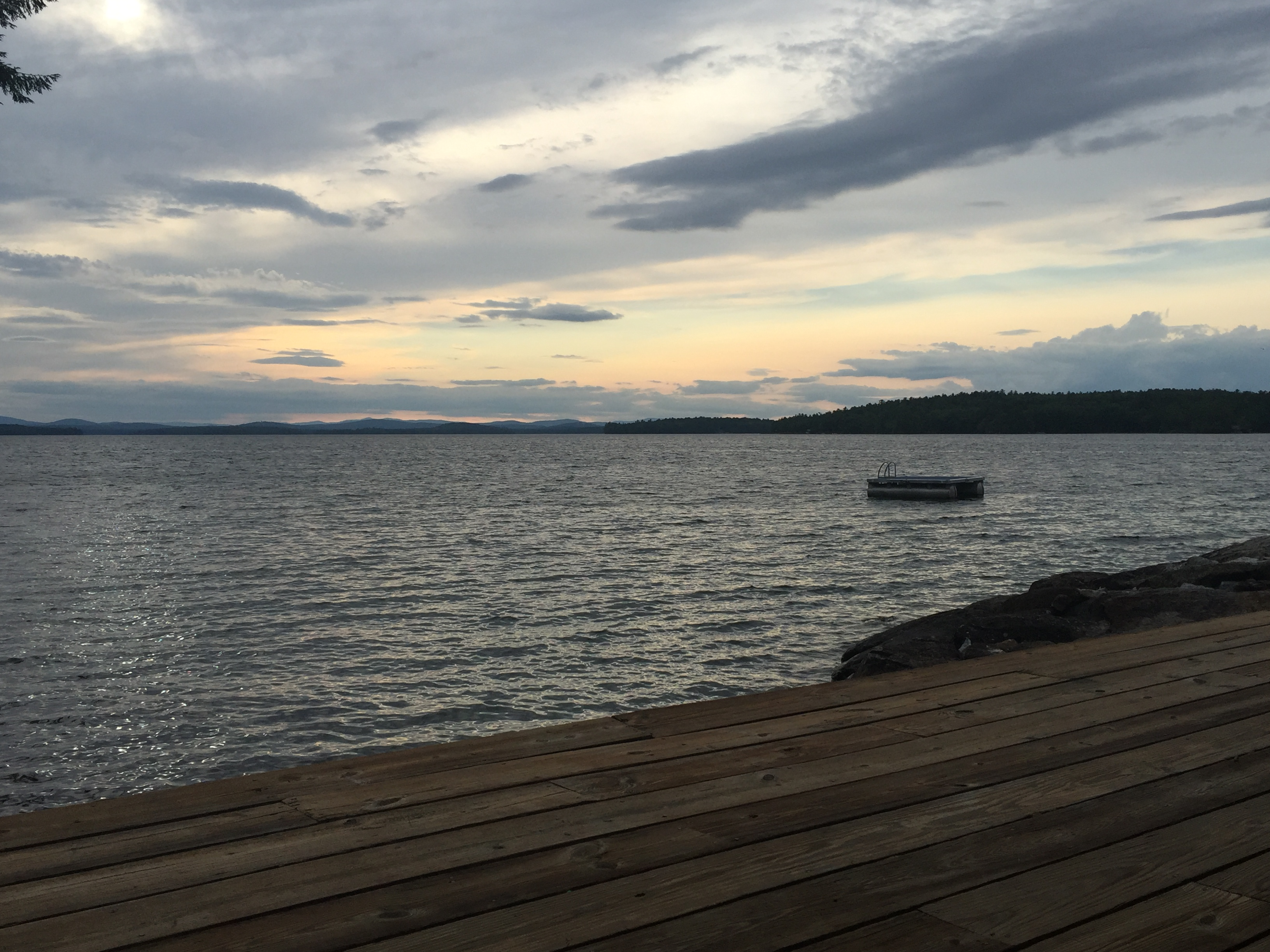 Sunset August 2016 at 58 Eaglmere Road on Winnipesaukee. Listed by Nicole Watkins