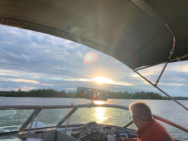 Setting out for a Winnipesaukee Sunset Cruise in the Mastercraft.