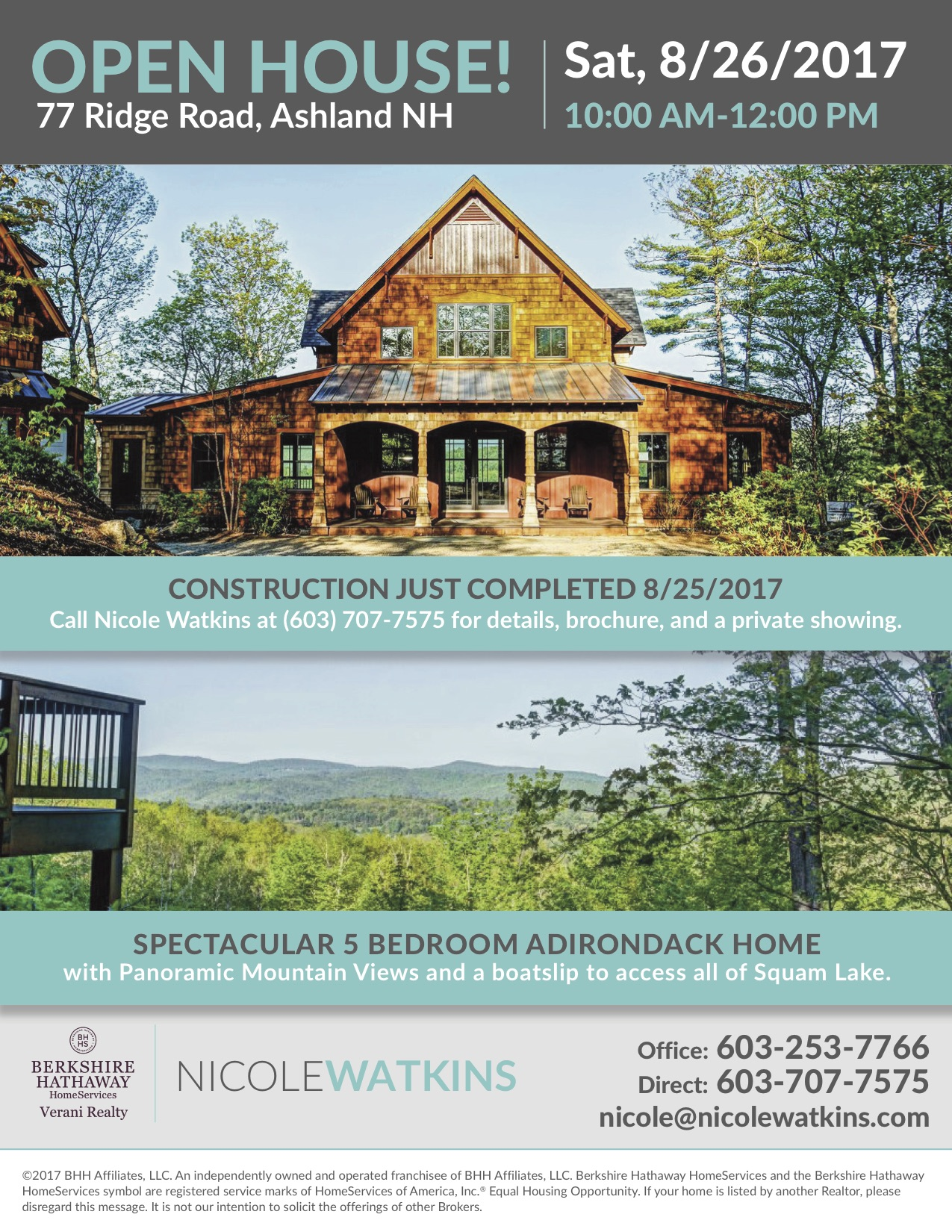 77 Ridge Road Open House Flier 2017