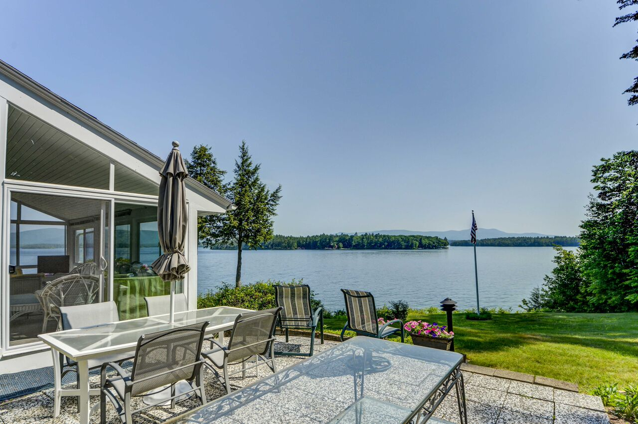 Views from 144 Veasey extend from Center Harbor to the tip of