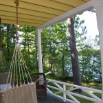 Alpine Park's Swing on the Classic Lakeside Porch.