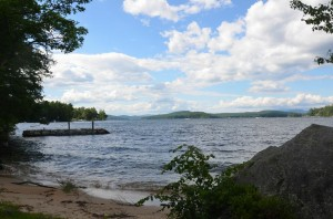 Lake Winnipesaukee Parcel with natural sandy beach waterfront.