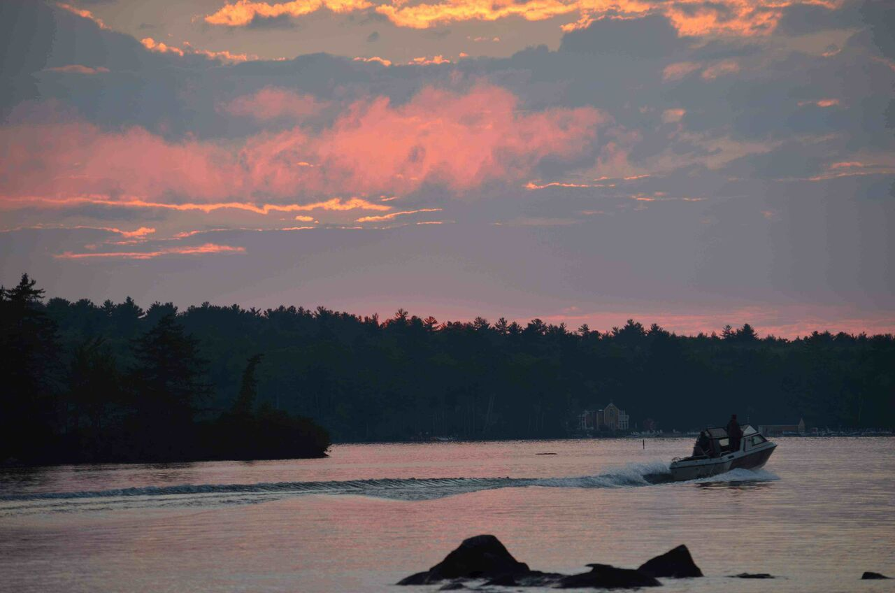 Lake Winnipesaukee Cow Island Sunset