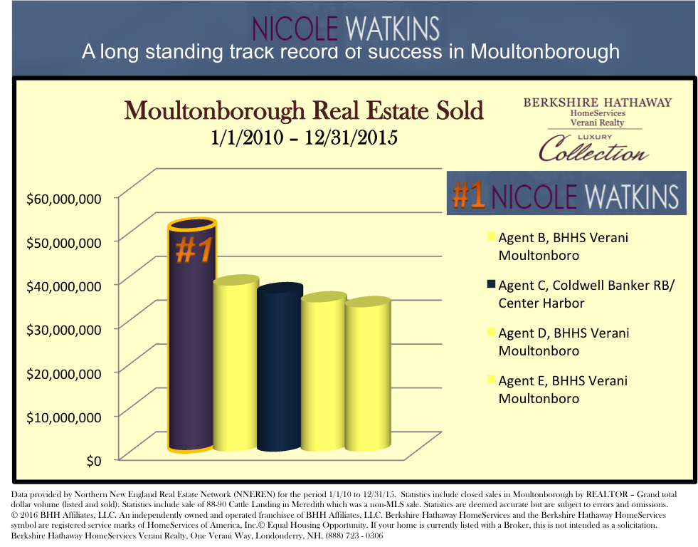 Nicole Watkins top selling realtor in Moultonborough NH 2015