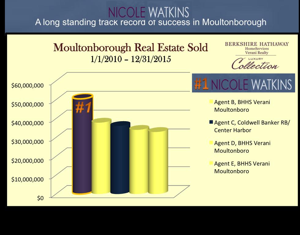 Nicole Watkins top selling realtor in Moultonborough NH 2015