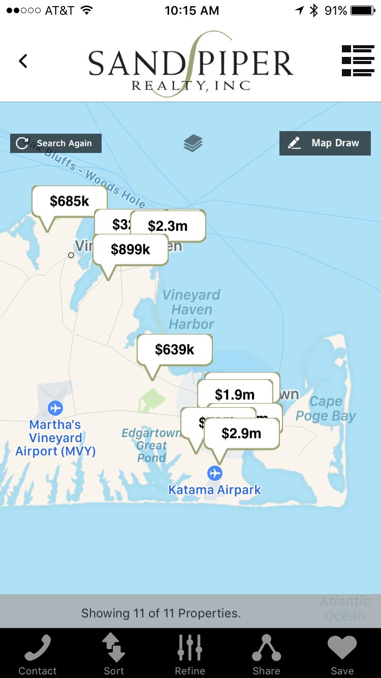Sandpiper Mobile - Map Search