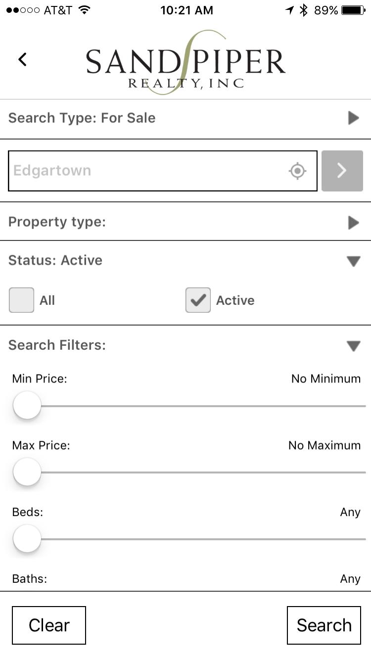 Sandpiper Mobile - Search