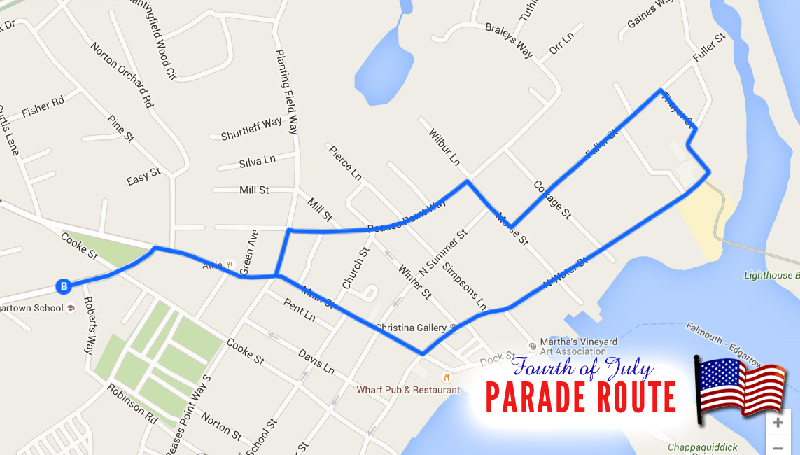 Fourth of July Parade Route in Martha's Vineyard