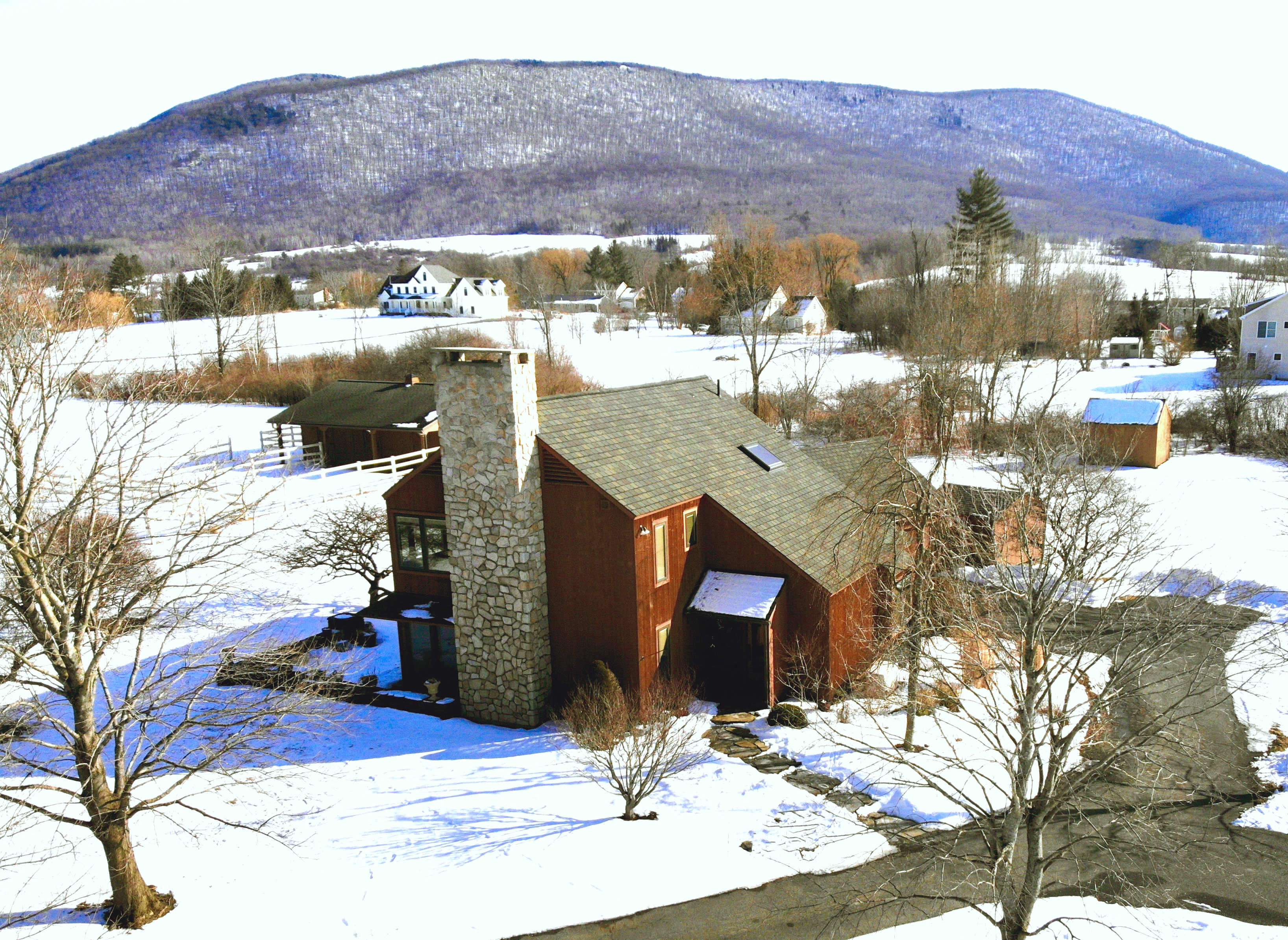 Berkshire Home For Sale In Williamstown With Barn and Pastures