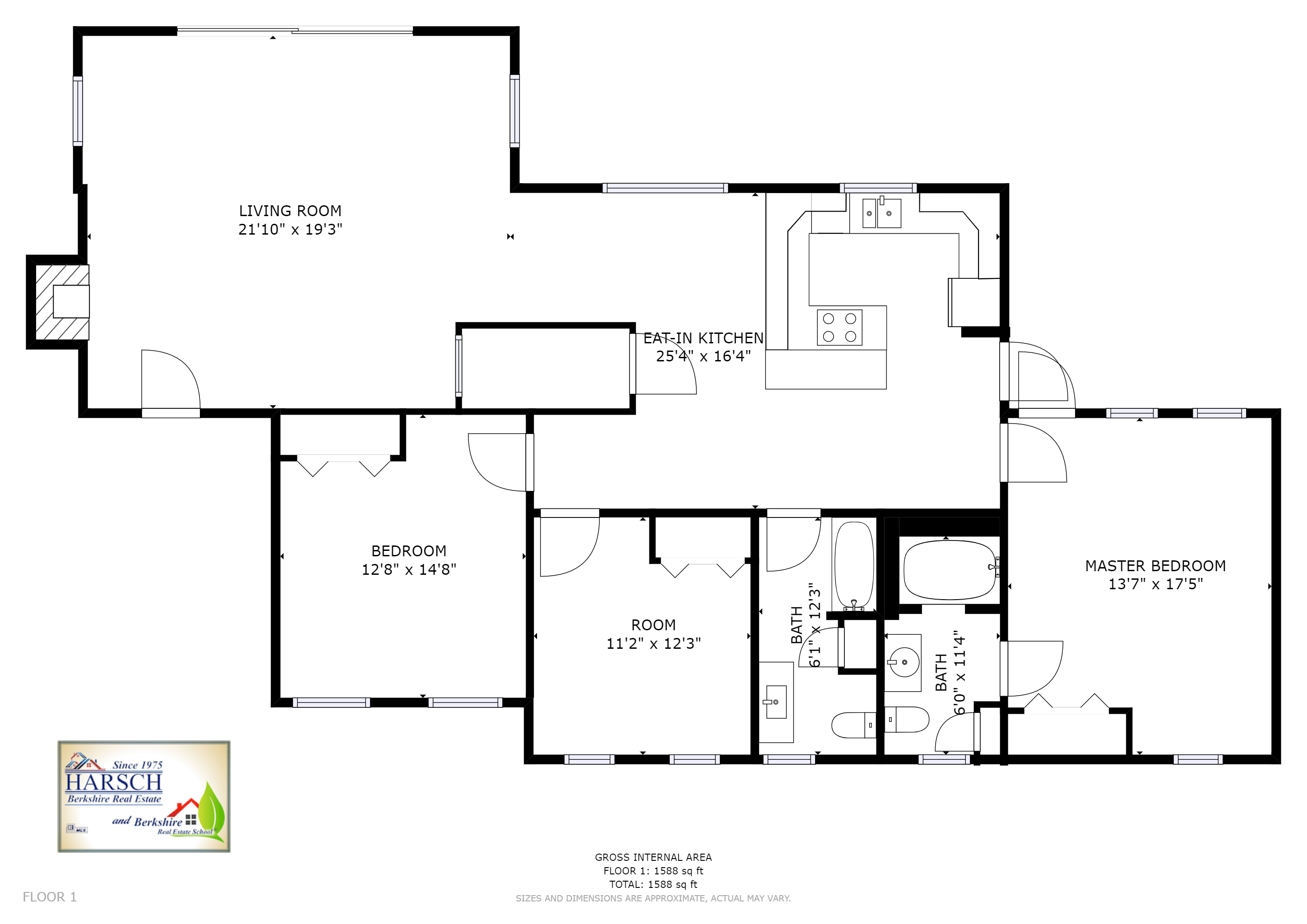 North Adams MA Floor Plan for 81 George Ave with Virtual Tour Link