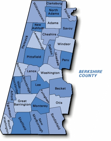 Williamstown Real Estate Berkshire County Map Harsch Real Estate