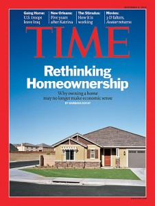 Time Cover in 2010 - don't buy Real Estate