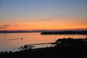 View of Lake Champlain Vermont