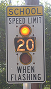 School Speed Limit Sign in Arlington MA