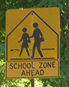 School Zone Sign in Arlington MA
