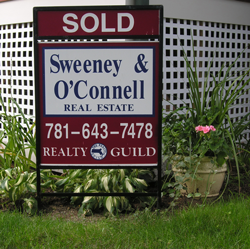 Sweeney Arlington MA Realtors Sold Sign|Home Sellers Arlington MA