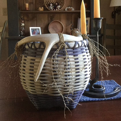 Basket weaving Colrain Massachusetts crafts