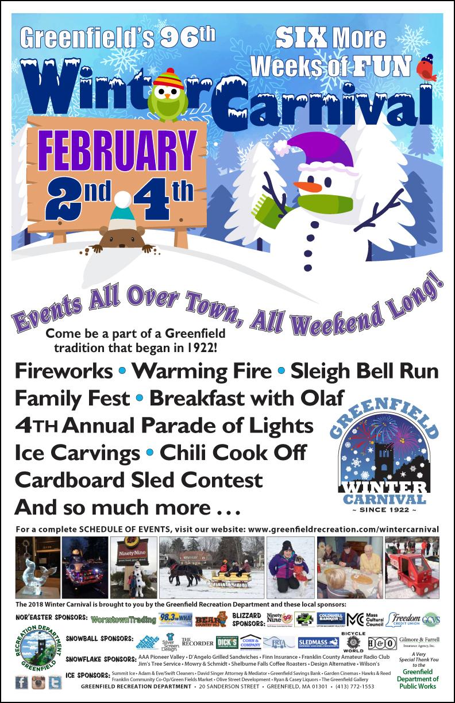 Greenfield Winter Carnival February 2-4