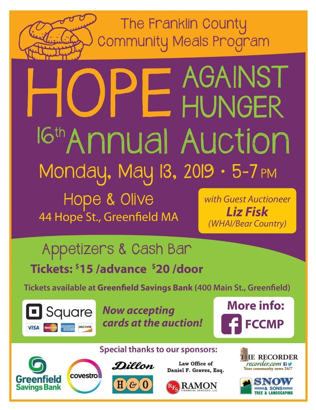 Hope against hunger annual auction