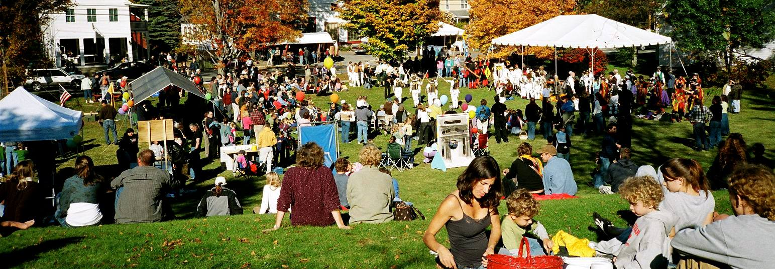 Ashfield Fall Festival Main Street Massachusetts