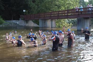 greenfield triathlon massachusetts swimming
