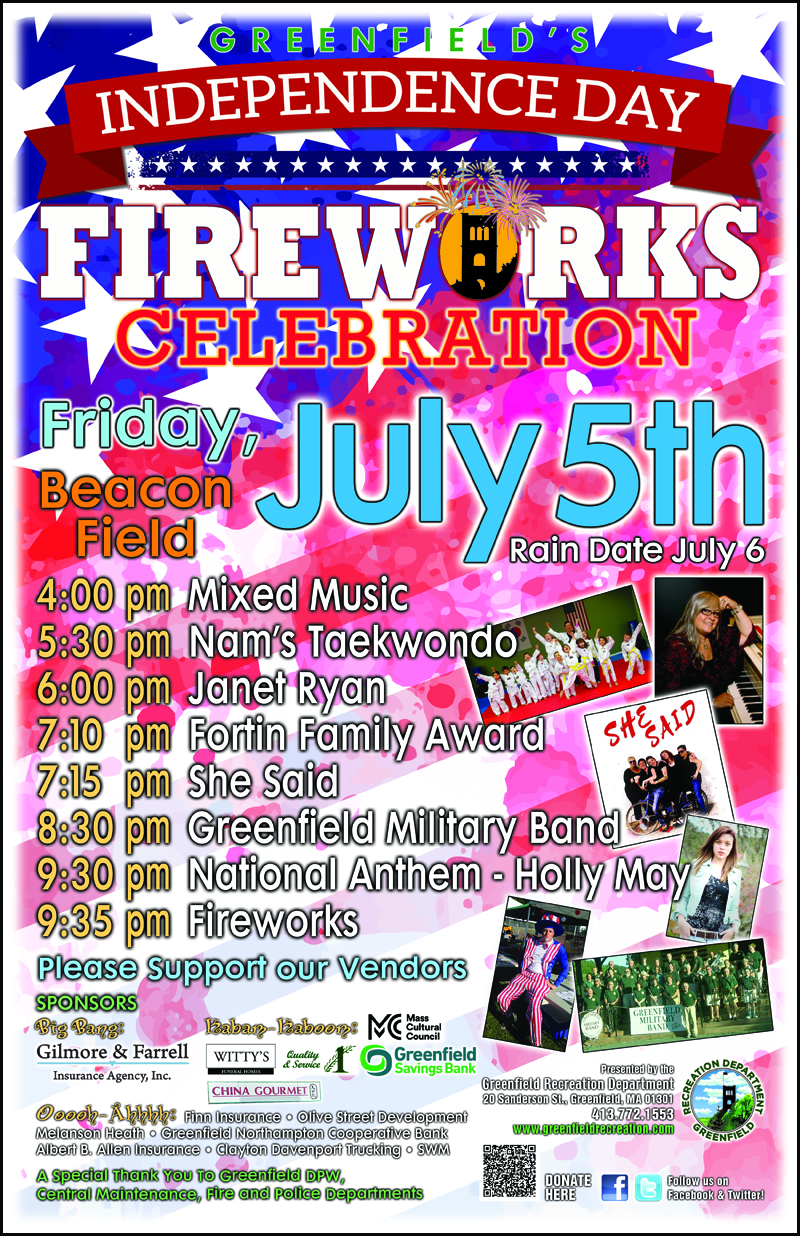 Greenfield's Independence Day Celebration and Fireworks