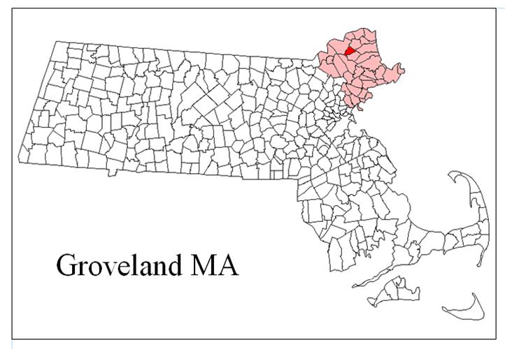 Groveland MA Map