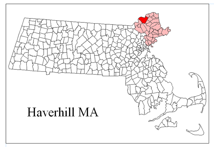Havehill MA Map