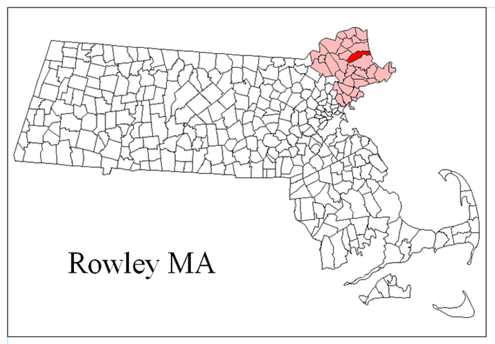 Rowley MA Map