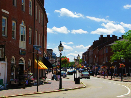 Market Square in Newburyport MA