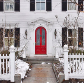 woodstock, vermont, curb appeal, new england home, front door