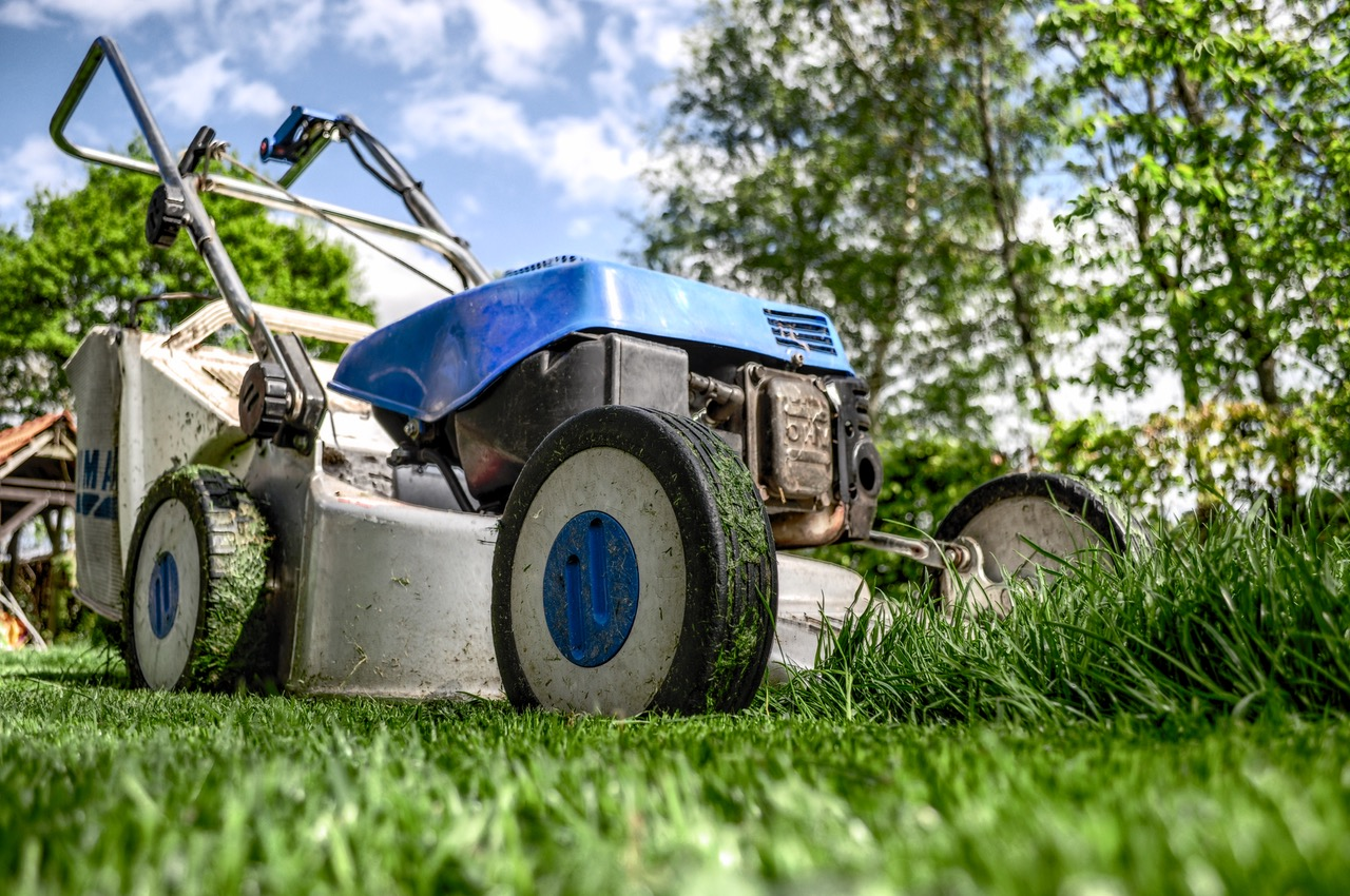 lawnmower, lawn care, landscaping, new home