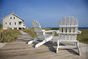 Chatham - 2 adirondack chairs looking at the ocean