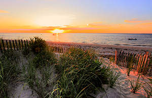Sunset on Cape Cod Beach