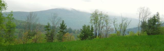 MIsty Afternoon Mountain Views in Weston, VT