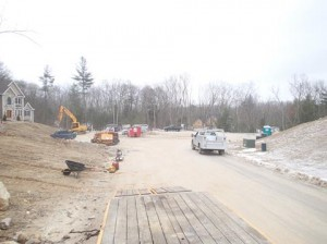 Lots of construction on the Northland Road cul-de-sac, Windham NH