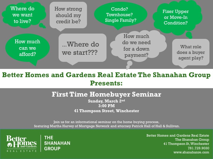 First Time Homebuyer Seminar | The Shanahan Group