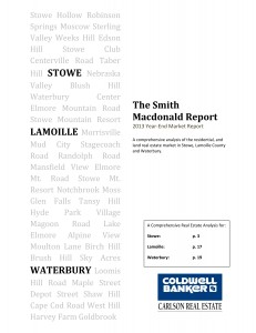 Stowe, VT Real Estate Analysis, Smith Macdonald Report