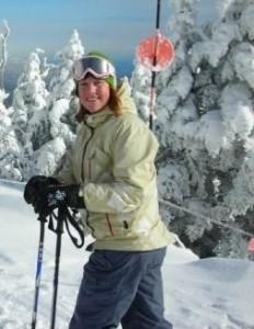 Maggie Skiing in Stowe