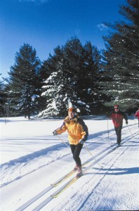 Winter outdoor activities in Stowe, VT