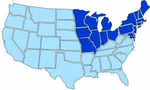 States in the Northern Region for Coldwell Banker