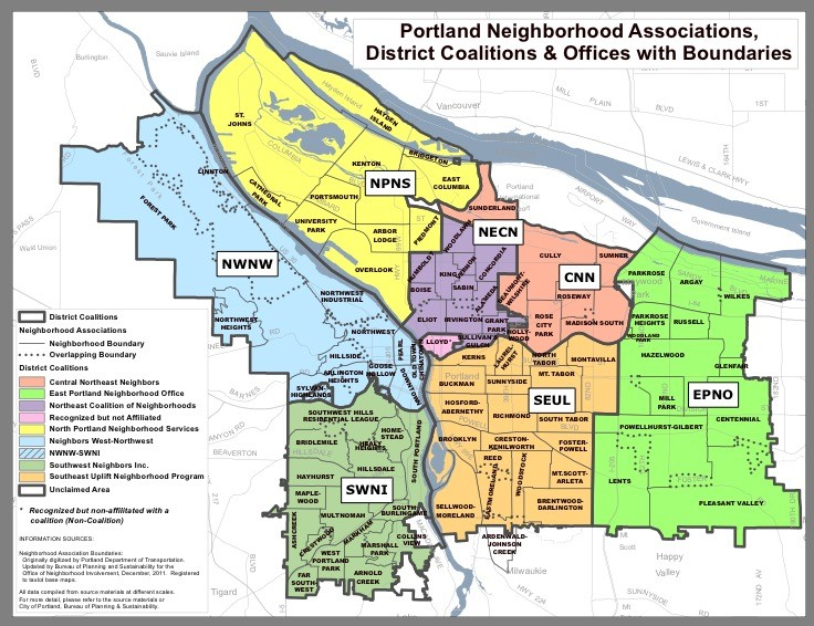 Portland Neighborhood Associations