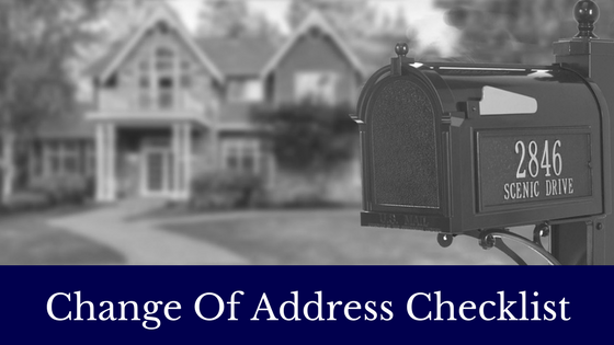 change of address checklist signature properties of vermont