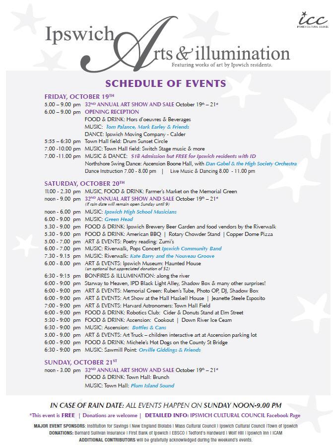 Ipswich Illumination Ipswich MA schedule