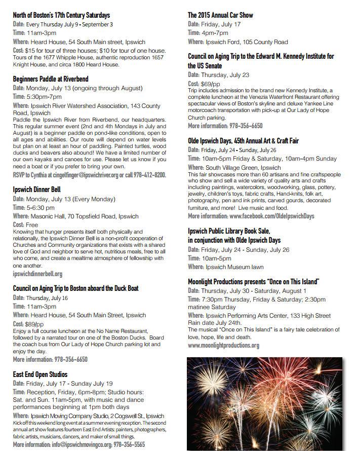 July 2015 calendar ipswich ma