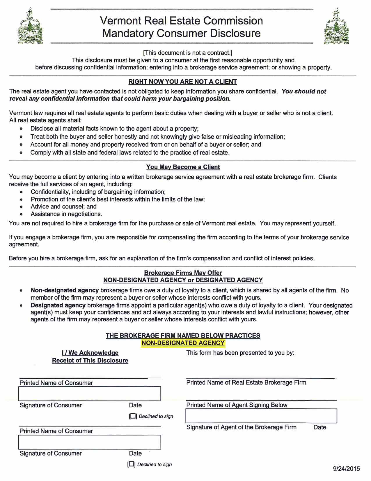 Consumer Disclosure Documents - Snyder Donegan Real Estate Group